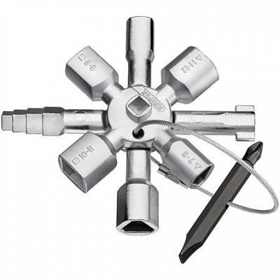 Ключ шкафной KNIPEX KN-001101 (5 / 12 мм) 92 мм knipex kn 8310015 трубный ключ 90°