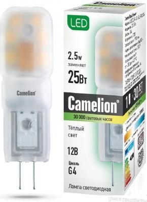 Лампа светодиодная CAMELION LED2.5-JC-SL/845/G4 2.5Вт 12в ac/dc camelion sl 5050 30 c99 светодиодная лента 5 м rgb