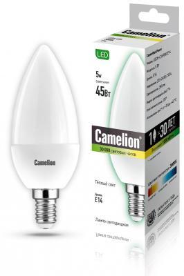 Лампа светодиодная CAMELION LED5-C35/830/E14 5Вт 220В Е14 3000К лампа светодиодная camelion led5 gu10 830 gu10 5вт 220в