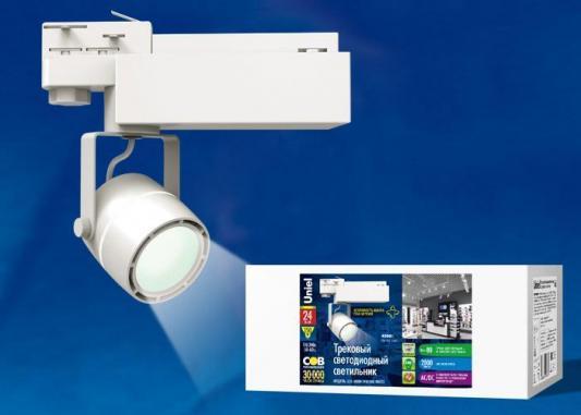 Трековый светодиодный светильник (UL-00002362) Uniel ULB-M08H-24W/NW White трековый светодиодный светильник ul 00002361 uniel ulb m08h 24w ww white