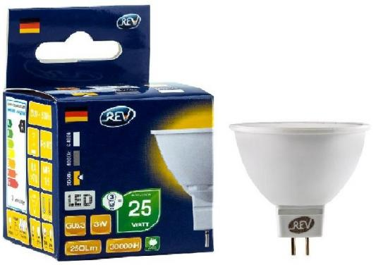 Лампа светодиодная REV RITTER 32320 4 MR16 GU5.3 3W 3000K звонок rev ritter 14810 4