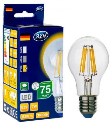 Лампа светодиодная REV RITTER 32353 2 6Вт E27 540лм 2700К теплый свет лампа светодиодная led e27 8 5вт 220v 2700к rev