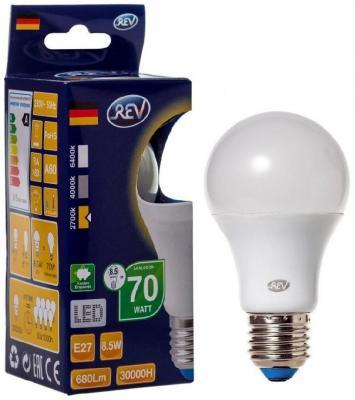 Лампа светодиодная REV RITTER 32379 2 8.5Вт E27 700лм 2700К теплый свет лампа светодиодная led e27 8 5вт 220v 2700к rev