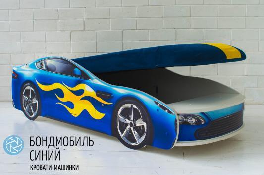 Кровать-машина с подъемным механизмом Бельмарко Бондмобиль (синий)