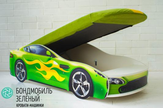 Кровать-машина с подъемным механизмом Бельмарко Бондмобиль (зеленый)