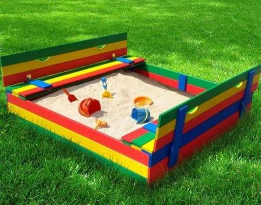 Купить Песочница Можга Славушка P905К, 40х150х150 см, Горки и песочницы для детей