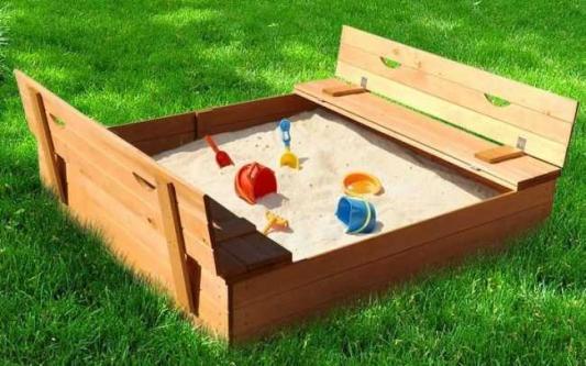 Купить Песочница Можга Славушка P905, коричневый, Горки и песочницы для детей