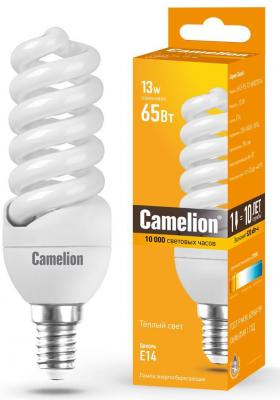 Лампа энергосберегающая спираль Camelion LH11-FS-T2-M/827/E14 E14 11W 2700K
