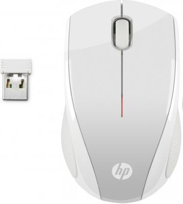 лучшая цена Мышь беспроводная HP X3000 P белый серебристый USB + радиоканал 2HW68AA