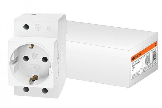 Розетка ТДМ SQ0209-0001 с заземляющим контактом на DIN-рейку