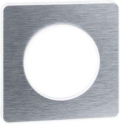 Рамка SCHNEIDER ELECTRIC 268302 Odace 1-м полиров. алюм. S52P802J schneider se odace полированная бронза белый рамка 4 я s52p808l