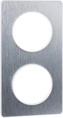 Рамка SCHNEIDER ELECTRIC 268303 Odace 2-м полиров. алюм. S52P804J schneider se odace полированная бронза белый рамка 4 я s52p808l