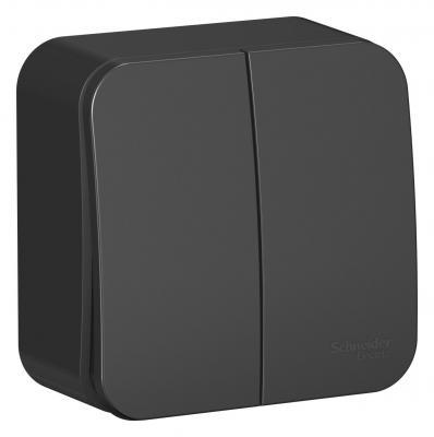 Выключатель SCHNEIDER ELECTRIC BLNVA105016 Blanca 2-кл. оп сх.5 10А 250В изол. пласт. антрацит