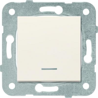 Механизм выключателя PANASONIC WKTT0002-2BG-RES Karre Plus 1кл с подсветкой крем рамка panasonic wktf0804 2sl res karre plus 6м горизонтальная белая