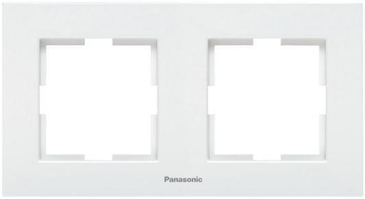 Рамка PANASONIC WKTF0802-2WH-RES Karre Plus 2м горизонтальная белая рамка panasonic wktf0805 2wh res karre plus 5м горизонтальная белая