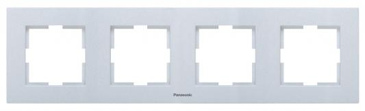 Рамка PANASONIC WKTF0804-2SL-RES Karre Plus 6м горизонтальная белая рамка panasonic wktf0804 2sl res karre plus 6м горизонтальная белая