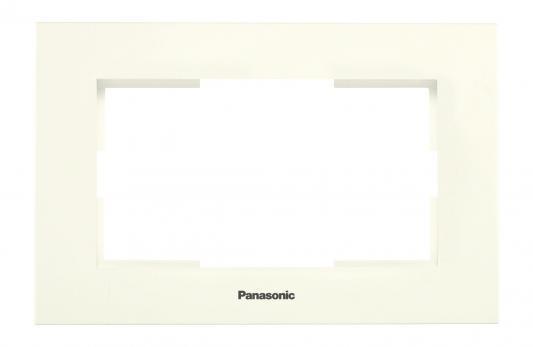 Рамка PANASONIC WKTF0805-2DG-RES Karre Plus для 2-й розетки крем