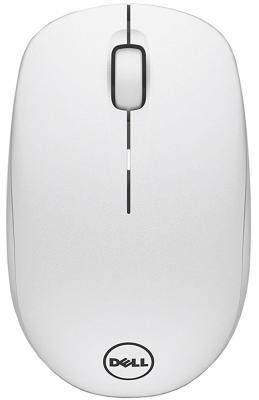 Мышь беспроводная DELL WM126 белый USB + радиоканал 570-AAQG мышь dell wm326 570 aami 570 aami