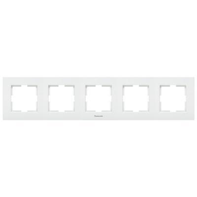 Рамка PANASONIC WKTF0814-2SL-RES Karre Plus 5м горизонтальная белая