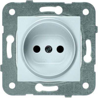 Механизм розетки PANASONIC WKTT0201-2SL-RES Karre Plus б/з серебро механизм выключателя panasonic wktt0010 2sl res karre plus 2кл с подсветкой серебро