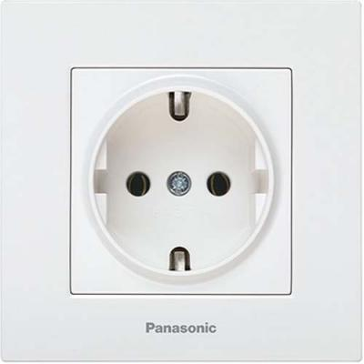 Механизм розетки PANASONIC WKTT0202-2WH-RES Karre Plus с/з белая