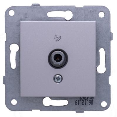 Купить Механизм розетки PANASONIC WKTT0452-2SL-RES Karre Plus TV проходная 12dB серебро, серебристый
