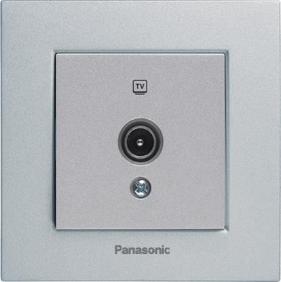 Механизм розетки PANASONIC WKTT0452-2SL-RES Karre Plus TV проходная 12dB серебро