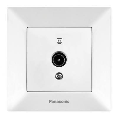 Розетка PANASONIC WMTC0452-2WH-RES Arkedia TV проходная 12dB белая