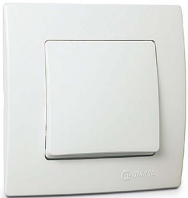 Выключатель MAKEL Lillium Natural Kare скрытой установки 1-клавишный белый, (32.001.001)
