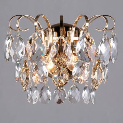 Купить Бра Eurosvet Crystal 10081/2 золото/прозрачный хрусталь Strotskis