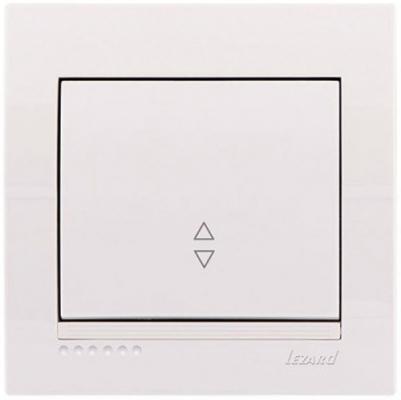 Выключатель LEZARD 702-0202-105 проходной серия скр.проводки Дери белый розетка lezard 702 0202 139