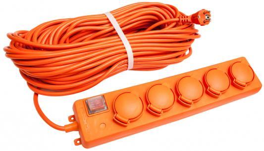 Удлинитель UNIVersal -026 IP-44 ПС 3*1,5 5гнезд 10м с заземлением, ыключатель с индикацией