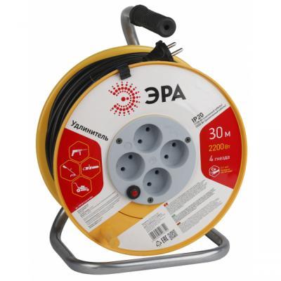 Удлинитель ЭРА Б0017620 силов RP-4-2x1.0-30m пласт. катушка без зазем. 30м 4гн 2х1мм2 2/64 модуль съёмный управляющий electrolux ech wf 01 smart wi fi