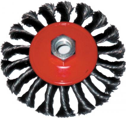 Кордщетка FIT 39116 колесо 125мм витая с наклоном гайка м 14