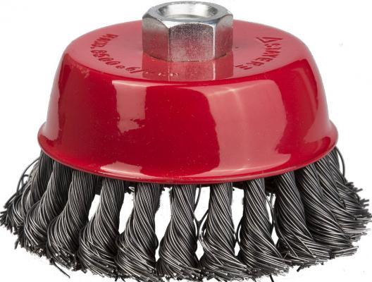 Кордщетка STAYER 35128-065_z01 чашечная для УШМ плетёные пучки проволоки 0.5мм 65мм/М14 кордщетка dexx 35103 100 чашечная м14 для ушм витая сталь0 3мм d100мм