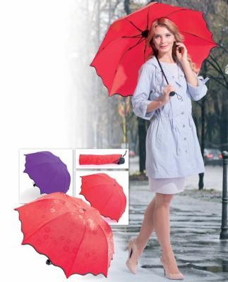 Зонт с проявляющимся рисунком, красный SU 0033 зонт с проявляющимся рисунком фиолетовый