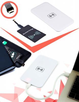 Аккумулятор беспроводной плоский для смартфонов с Micro USB разъемом, белый SU 0051 аккумулятор беспроводной bradex аккумулятор беспроводной