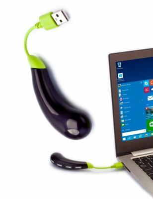 Разветвитель USB «БАКЛАЖАН», темно-фиолетовый SU 0041 at26df321 su