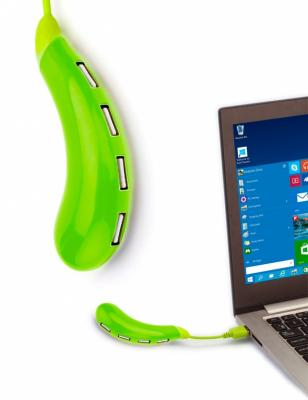 Разветвитель USB «БАКЛАЖАН», зеленый SU 0042 at26df321 su