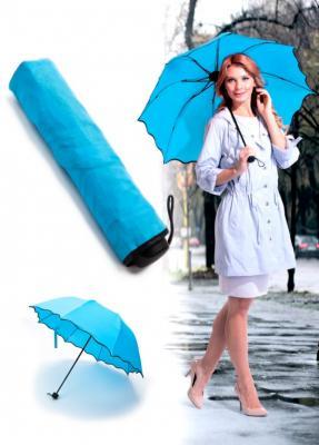 Зонт с проявляющимся рисунком, голубой SU 0066