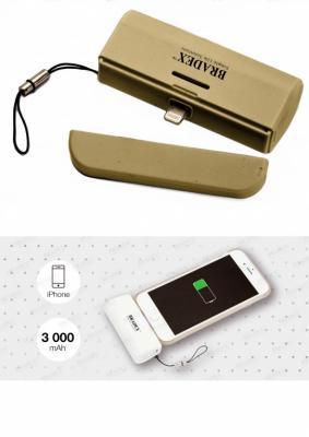 Аккумулятор ультрапортативный с Lightning разъемом, 3000 mAh, золотой SU 0061 цена
