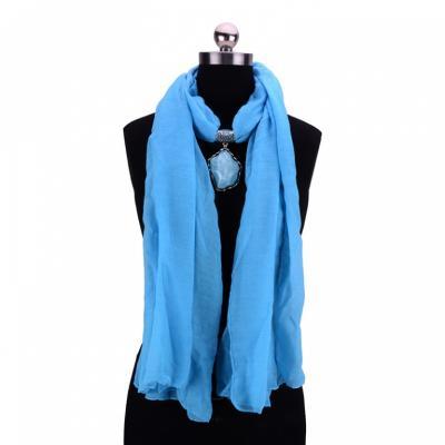 Купить Колье-шарф «ФЛОРЕНЦИЯ» голубой AS 0213, Bradex