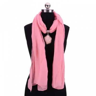 Колье-шарф «ФЛОРЕНЦИЯ» розовый AS 0214 цена