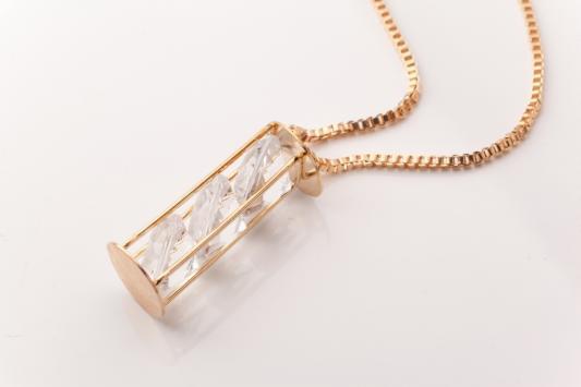 Колье «ВОЛШЕБНАЯ БУТЫЛОЧКА» цвет серебряный AS 0157 браслет bradex as 0001