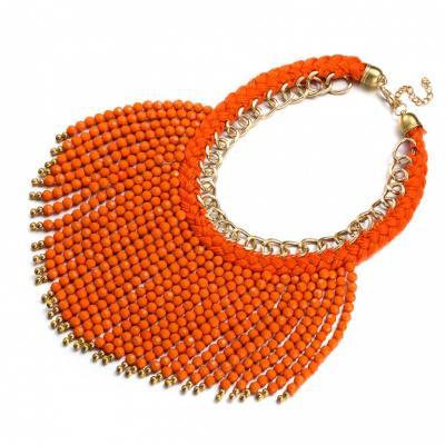 Колье «БОХО» оранжевый AS 0185 hemar конструктор п 0185
