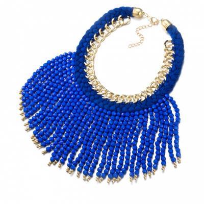 Колье «БОХО» синий AS 0186 браслет bradex as 0001