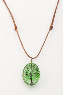 Купить Кулон «ДЕРЕВО САКУРЫ» зеленый AS 0262, Bradex