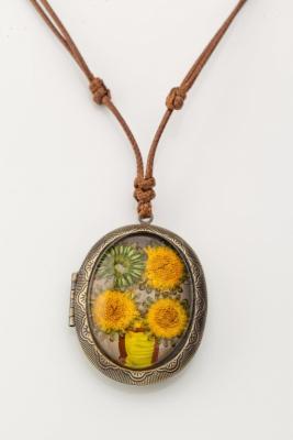 Купить Кулон «МЕДАЛЬОН» желтый AS 0265, Bradex