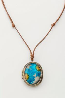 Кулон «МЕДАЛЬОН» голубой AS 0267