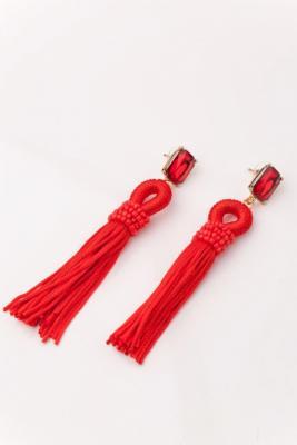 Серьги «КИСТИ» красный AS 0160 dijon fco as monaco